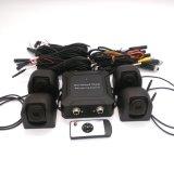 alta resolução de 3D 4CH 960p sistema da câmera de opinião do pássaro de 360 graus para o barramento/caminhão