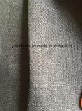 Tela tejida tela de lino pura del lino de la ropa de la materia textil de la tela de la alineada del juego de las telas
