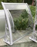 Suportes econômicos do dossel da porta do policarbonato com perfil do alumínio da calha da água