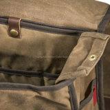 Freizeit-beiläufiger Segeltuch-Rucksack für Campus und Schule