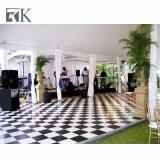 Wit en Zwart Houten Dance Floor voor de BinnenDecoratie van de Staaf