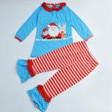 Garçons de bébés 2 parties de Noël de long de chemise de Santa de chemise de pantalon jeu d'équipement, vêtement de gosse de vêtements d'enfants