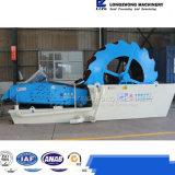 Machine à laver spiralée de sable de position de roue avec l'écran de asséchage