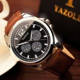 Grosse Vorwahlknopf-Uhr-wasserdichte Armbanduhr-Kompaktbauweise-Quarz-Uhren der Form-H335