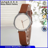 Reloj de encargo de las señoras de la fabricación del reloj de la insignia (Wy-087D)