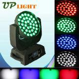 급상승 이동하는 헤드 36X10W RGBW 4 색깔 LED 세척 빛
