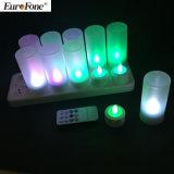 リモート・コントロールの7colors LEDの蝋燭