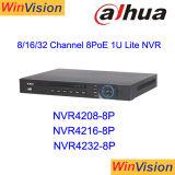 CCTV Poe NVR de la vigilancia de la marca de fábrica NVR4216-8p 16CH 8poe de Dahua