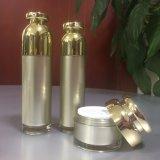 Bottiglia e vaso stabiliti impaccanti cosmetici acrilici di lusso dorati