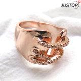 남자를 위한 여자를 위한 레이스 모양을%s 가진 형식 보석 당 로즈 금 도금 도금된 반지
