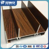 Eichen-Holz-Korn-Aluminiumfenster-Rahmen-Profile Soem-6063t5