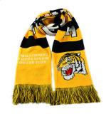 Sciarpa lavorata a maglia sciarpa dei ventilatori della sciarpa di calcio con il marchio personalizzato