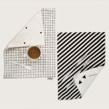 Padrão geométrico em Face dupla nórdicos puro algodão tapete alimentar
