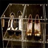 明確なプレキシガラスのアクリルの靴の陳列ケース