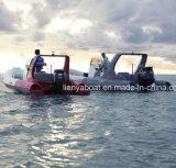 Barca veloce della nervatura di piacere della barca gonfiabile rigida del guscio di Liya 22FT