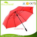 Зонтик гольфа печатание логоса сплошного цвета ручки ЕВА оптовой цены фабрики изготовленный на заказ
