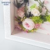 La pintura de pared presionada preservada del fresco de la flor en muchos diseña