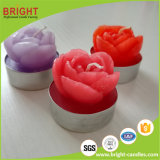Candele a forma di dell'indicatore luminoso del tè del fiore in contenitore di PVC