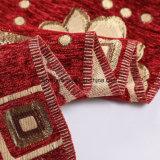 Tessuto di Chenille filato 100% rosso del poliestere della tintura del filato di colore della tessile domestica di Shaoxing