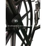 Polvo cubierto, sillón de ruedas Muti-Funcional, lisiado, de acero