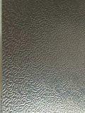 Яркий штукатурки рельефным алюминиевого листа катушки в морозильной камере