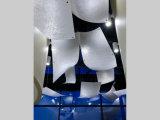 Белый Silk лист смолаы искусствоа узла