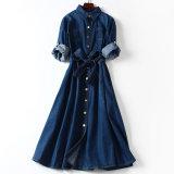標準的な様式の女性の偶然の綿のデニムの服への方法ベルト