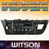 Witson Windows Car Multimedia player de DVD para a Toyota Corolla Levin 2014