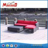 中国の工場屋外の家具の多藤L形のソファーセット