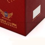 Hot Stamping logotipo Vinho Personalizado Caixa de oferta de garrafa de vidro/