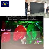 105 pulgadas de alta calidad de ganancia fija de 0,8 estrecho marco de las pantallas de proyección, de cristal negro