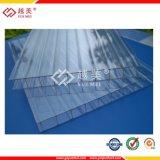 Clear UV покрытием из поликарбоната с двойными стенками панелей