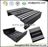 Anodisiertes LED Aluminiumstrangpresßling-Profil des Fabrik-Schwarz-6063 T6 mit ISO 9001