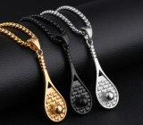 Raquete de tênis de Aço Inoxidável colar pendentes para homens/mulheres Dom prateado/preto/dourado a Kpop Sport jóias Fitness Colares