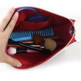 Zak van de Make-up van de Zak van het Patroon van het Net van dames de Kosmetische met Spiegel binnen & de Beurs van de Koppeling van de Handtas van de Zak van de Make-up