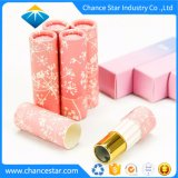Zoll-verdrehtes kleines rosafarbenes Lippenstift-Kasten-Papier-Gefäß