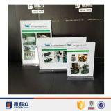Supports acryliques de signe estampés par coutume carte 8.5 x 11 annonçant le présentoir