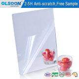 Olsoon 0.8-6mm incassables Anti-Rayent la feuille acrylique argentée de miroir