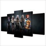 Modernes der Segeltuch-Abbildung-HD Panel-Plakat Witcher Druck-Wand-der Kunst-5 wilde Jagd-Film-Spiel-Zeichen, die Hauptdekor-Rahmen anstreichen