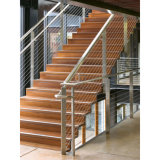 Escalier de la conception commerciale courante de câble en acier inoxydable