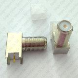 Soldadura femenina de ángulo recto de F para el conector del RF del montaje del PWB