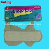 280mm Ashan het Geperforeerde Film Hoogste Blad van Dame Cheap Maandverband, het Economische Maandverband van 10+5 Fabriek voor Vrouwen