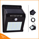 LED solaire Powered séparés pour des feux de jardin intérieur en extérieur de la sécurité de l'éclairage de secours
