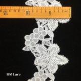 11cm隙間ゲージのふさ花Hmw6123が付いている100%年ポリエステルレースの刺繍のアフリカのオーガンザのレースのトリム