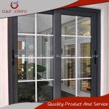 Aluminio comercial revestido de la potencia que resbala la ventana esmaltada doble