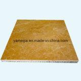 حجارة لون ألومنيوم قرص عسل ألواح لأنّ جدار واجهات