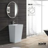 Kkrの現代固体表面の円形の黒い浴室の流し