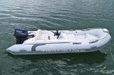 Fibra de vidro de cor branca 4.3m Barco de Pesca barco de costela de PVC