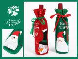 Мешок вина подарка темы рождества с Drawstring