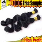 Освободите человеческие волосы черноты двигателя волны бразильские в штоке
